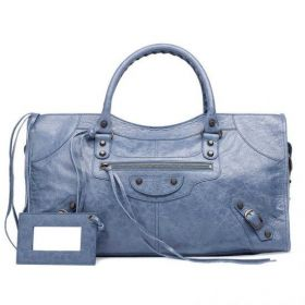 2018 New Balenciaga Female Part Time Leather Tassel Zip Pull Hand-stitched Handles Jacinthe Shoulder Bag UK