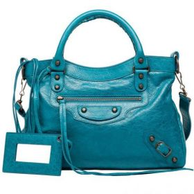 Good Price Balenciaga Classic Town Small Brass Studs Ladies Top Handles Lagon Lambskin Shoulder Bag Outlet