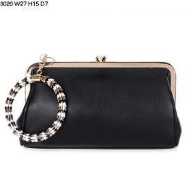 Cheapest Bvlgari Serpenti Famed Ladies Black Leather Golden Hardware Snake Head Closure Clutch Bag Online