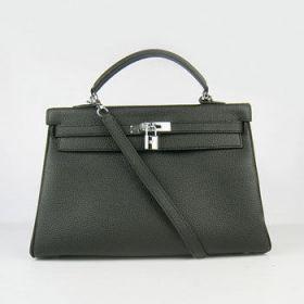 Hermes Kelly Black Togo Leather 35CM Handbag Silver Lock Fashion Design Best Review UK