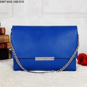 High Quality Celine Blade Satchel Flap Inside Zip Pocket Female Blue Calfskin Silver Chain Handbag Replica