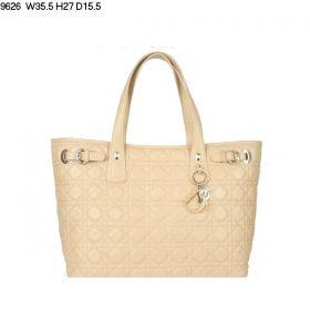 Christian Dior Apricot  Panarea Leather Roomy Lambskin-Sense Shoulder Bag Single-Compartment Style Nice Price