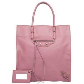Summer New Balenciaga Rose Anglaise Papier A5 Brass Zipper Front Pocket Leather Tassel Trimming Ladies Handbag