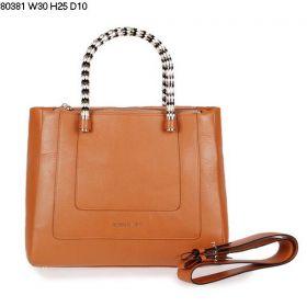 Best Price Bvlgari Serpenti Earth Yellow Ferrari Leather Golden Clone Zipped Tote Bag With Shoulder Strap