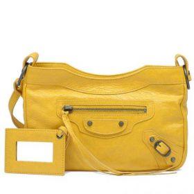 Balenciaga Classic Hip Aged Brass Hardware Leather Tassels Mangue Ladies Crossbody Bag With Hand Mirror