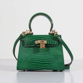 Hermes Kelly 20cm Green Lizard Leather Bag Golden Lock Lace Flap Online Shop Malaysia