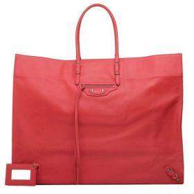 Balenciaga Female Papier A3 Leather Tassels & Studs Detail Red Calfskin Tote Bag With Hand Mirror 50cm
