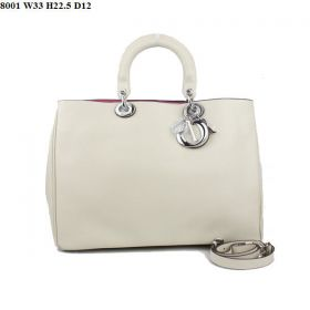 Christian Dior Diorissimo Cross-Body Style Nappa-Pattern Leather Small Tote Bag  Beige Celebrity Bussiness Lady