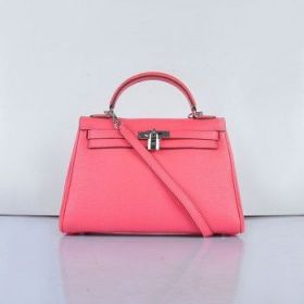 Hermes Kelly 32cm Lip Pink Togo Leather Handbag  Silver Lock Price Singapore Celebrity Style Lady