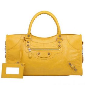 Popular Mangue Balenciaga Giant 12 Part Time Buckle & Belt Design Ladies Rose Gold Studs Tote Bag