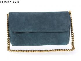 Summer Trends Celine Gourmette Flap Closure Smooth Leather Lining Ladies Dark Green Suede Chain Bag