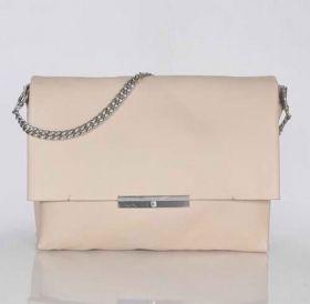 Best Celine Blade Oversized Flap Polished Silver Chain Shoulder Strap Ladies Apricot Original Leather Bag