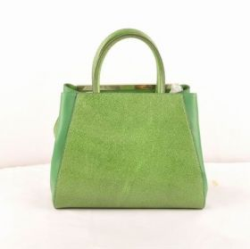 Wholesale Fendi Petite 2jours Green Caviar Leather With Grass Green Ferrari Leather Small Bag Party