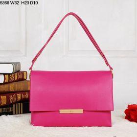 Womens Spring Celine Blade Yellow Brass Hardware Dual-purpose Shoulder Strap Peach Calfskin Flap Crossbody Bag