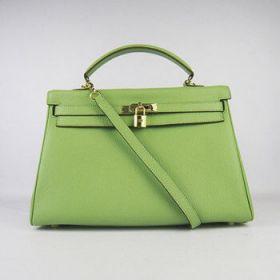 Hermes Kelly Green Togo Leather Handbag Golden Lock 35cm Modern Style 2018 Spring Australia Online