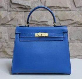 Hermes Kelly Lake Blue Epsom Leather 28cm Handbag Gold-plated Lock Price 2018 Italy Sale