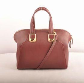 Fendi Chameleon Wine Red Ferrari Leather Top-handle Bag Celebrity 2018 Price List