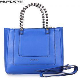 Hot Style Bvlgari Serpenti Metal Snake Veins Top Handle Blue Calfskin Leather Crossbody Bag Online