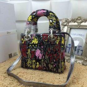 Vintage Christian Dior Lady Dior Multi-color Snakeskin-qulaity Leather   Tote Shopping/Dating Bag  With Shoulder Strap