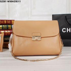 Christian Dior Diorling  Sleek Apricot Medium Calfskin-Quality Metal-Belt Shoulder Bag Golden Hardware Office Lady