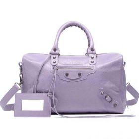 Womens Latest Balenciaga Polly Silver Zip-around Closure Leather Tassels Trim Ladies Glycine Rectangular Bowling Bag