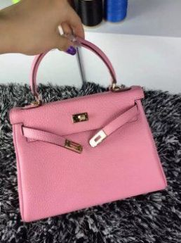 Hermes Kelly Pink 25cm Togo Leather Bag Gold-plated Lock Miranda Kerr Style Sale Online Shopping