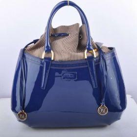 Wholesale Fendi B Fab Sapphire Blue Patent Leather Large Sexy Style Women Bag Singapore