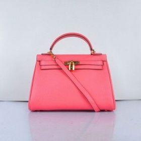 Hermes Kelly Lip Pink Togo Leather 32cm Handbag Golden Lock Buckle With Strap Sale Replica