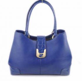 Fendi Chameleon Blue Ferrari Leather Crocodile Veins Leather Ornate Tote Bag Price USA
