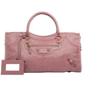 Balenciaga Giant 12 Rose Gold Hardware Detachable Shoulder Strap Ladies Zipper Part Time Handbag Rose Bruyere