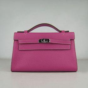 Wholesale Hermes Kelly 22cm Peach Togo Leather Handbag Top Handle Lady Silver Lock And Key