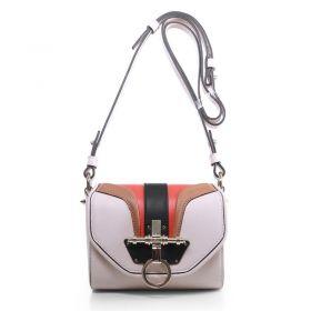 AAA Givenchy Obsedia Ladies Small Original Calfskin Colorblock Turn-lock Flap Fake Shoulder Bag Light Pink