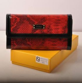 Fendi Red Snake Veins Leather Sexy Long Wallet For Sale Price Canada Lady